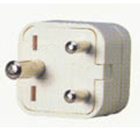 back view of generic adapter to use plugs type A, B, C, D, E, F, G, H, I, J, K, L, N from United States of America in outlets type M from India