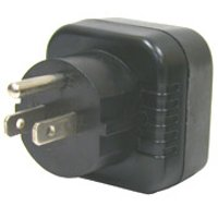 back view of generic adapter to use plugs type E from Guadeloupe in outlets type B from Costa Rica