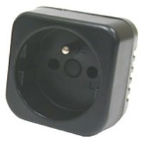 front view of generic adapter to use plugs type E from Burundi in outlets type B from Costa Rica